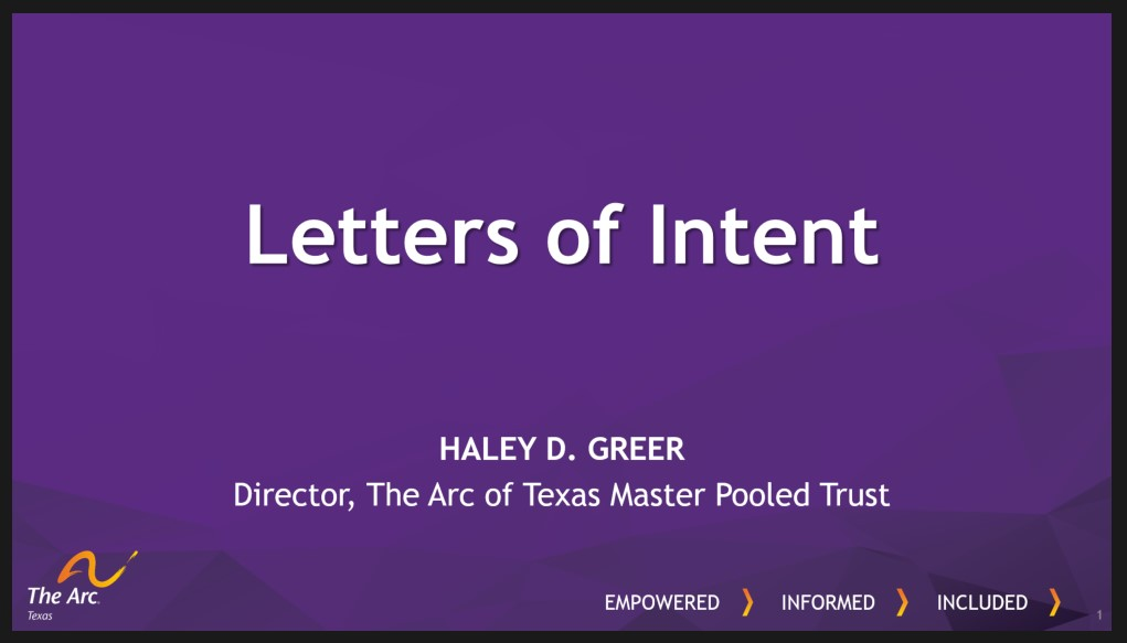 Letter of Intent Cover Page